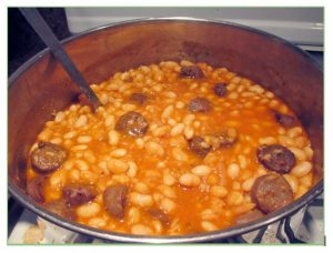 A Simple Sunday Supper: Fagioli all' Uccelletto with Sausage and Beans