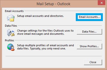 daily tactics guru-Email Accounts tab
